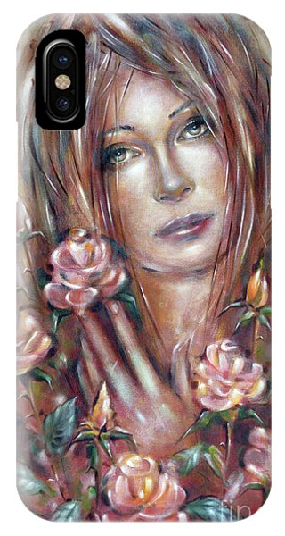 Sad Venus In A Rose Garden 060609 IPhone Case