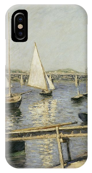French Painter iPhone Case - Sailing Boats At Argenteuil by Gustave Caillebotte