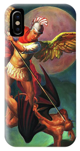 iPhone Case - Saint Michael The Warrior Archangel by Svitozar Nenyuk