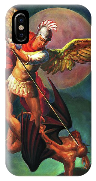 Religious iPhone Case - Saint Michael The Warrior Archangel by Svitozar Nenyuk