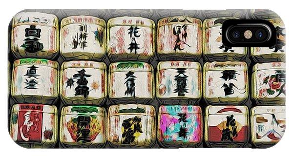 Sake Barrels IPhone Case