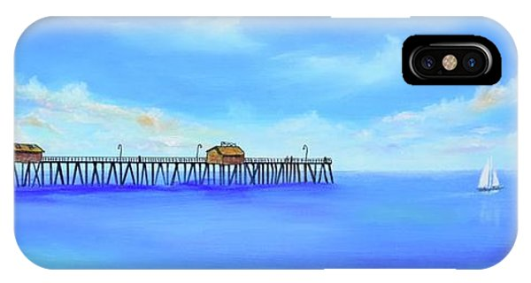 IPhone Case featuring the painting San Clemente Pier by Mary Scott