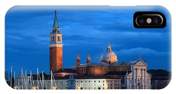 IPhone Case featuring the photograph San Giorgio Maggiore Church Night by Songquan Deng