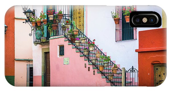 Guanajuato iPhone Case - San Roque Stairs by Inge Johnsson