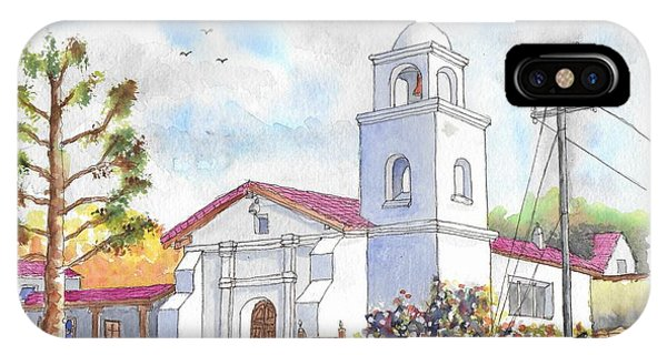 Santa Cruz Mission, Santa Cruz, California IPhone Case