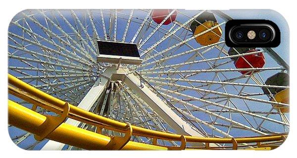 Santa Monica Pier Amusement Park IPhone Case