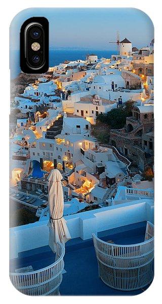 Santorini Skyline Phone Case by Songquan Deng