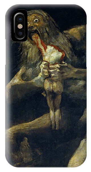 Saturn Devouring His Son IPhone Case