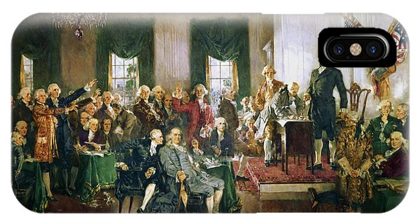 Capitol iPhone Case - Scene At The Signing Of The Constitution by Howard Chandler Christy