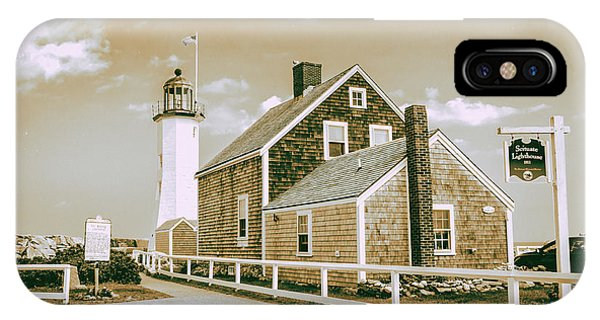 Scituate Lighthouse In Scituate, Ma IPhone Case
