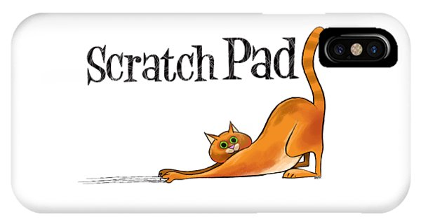 Scratchy Cat IPhone Case