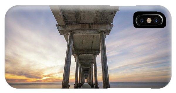 Scripps Pier iPhone Case - Scripps Pier Sunset  by Michael Ver Sprill