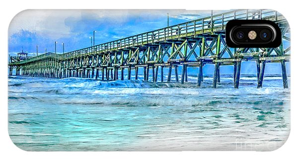 Sea Blue - Cherry Grove Pier IPhone Case