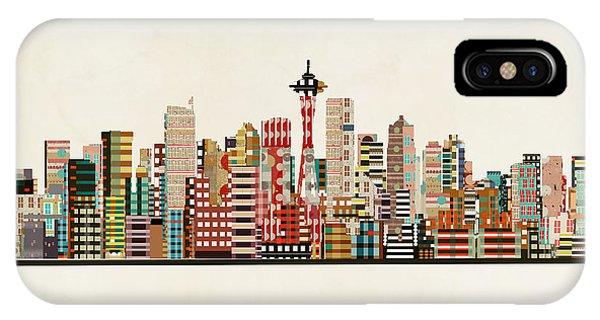 Seattle iPhone X Case - Seattle Skyline by Bri Buckley