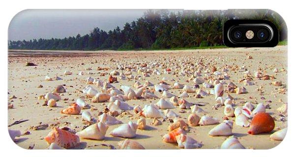 She Sells Sea Shells At The Sea Shore Seaweed And Sea Shells Beaches Of Zanzibar Tanzania IPhone Case