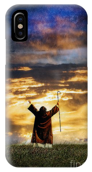 Shepherd Arms Up In Praise IPhone Case