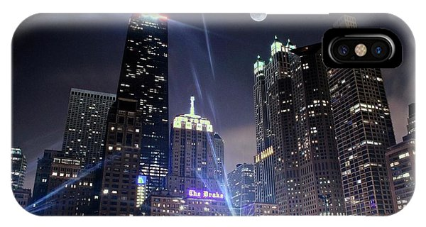 Bean Town iPhone Case - Shining Bright In Chicago by Frozen in Time Fine Art Photography