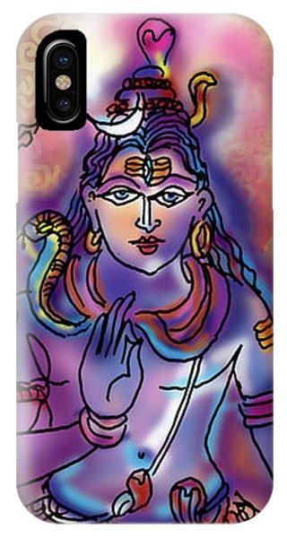 Shiva Dhyan IPhone Case
