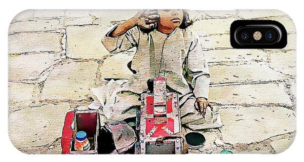 IPhone Case featuring the digital art Shoeshine Girl - Nile River, Egypt by Joseph Hendrix