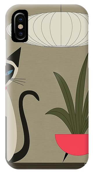 Siamese Cat On Tabletop IPhone Case