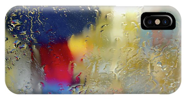 Window Shopping iPhone Case - Silhouette In The Rain by Carlos Caetano
