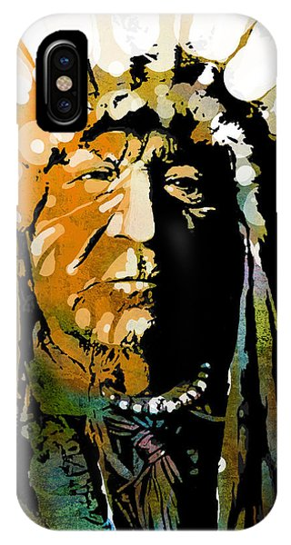 Native iPhone Case - Sitting Bear by Paul Sachtleben