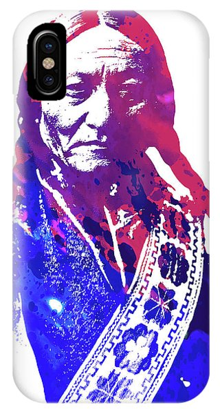 Bull Art iPhone Case - Sitting Bull by Greg Joens