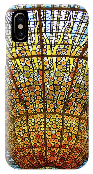 Skylight In Palace Of Catalan Music  IPhone Case