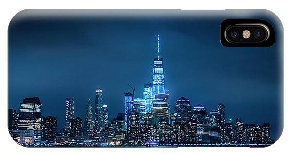 Skyline At Night IPhone Case