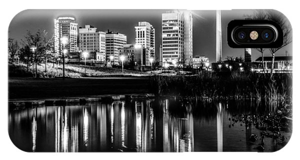 Skyline Of Birmingham Alabama From Railroad Park IPhone Case