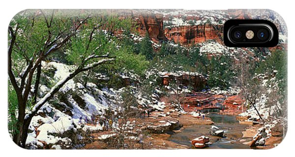 Slide Rock Creek In Wintertime, Sedona IPhone Case