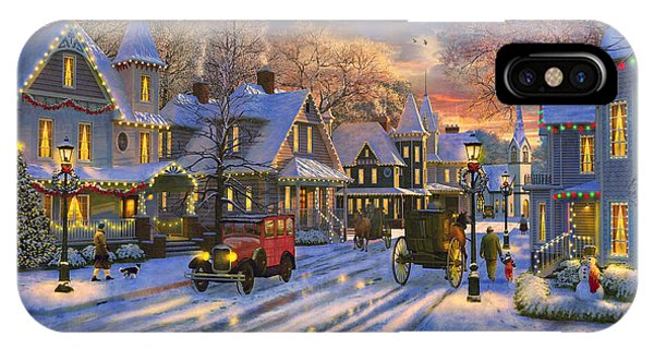 Small Town Christmas IPhone Case