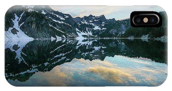 Snow Lake Chair Peak Dusk Reflection IPhone Case