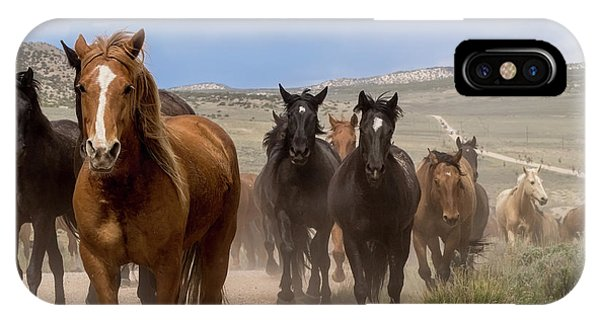 Sombrero Ranch Horse Drive, An Annual Event In Maybell, Colorado IPhone Case