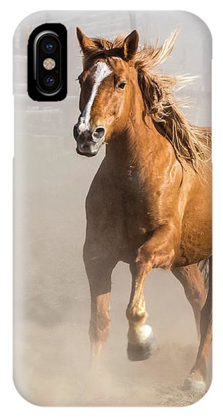 Sombrero Ranch Horse Drive At The Corrals IPhone Case