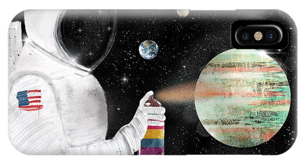 Solar System iPhone Case - Space Graffiti by Bri Buckley