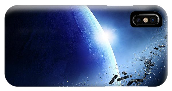 Earth Orbit iPhone Case - Space Junk Orbiting Earth by Johan Swanepoel