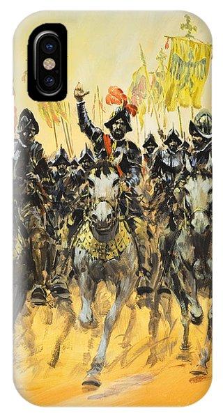 Explorer iPhone Case - Spanish Conquistadors by Graham Coton
