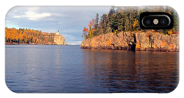 Lake Superior iPhone Case - Split Rock Lighthouse From 1905, Lake by Panoramic Images
