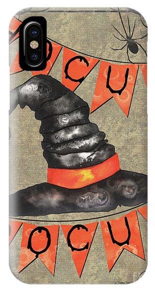 Bat iPhone Case - Spooky Pumpkin 1 by Debbie DeWitt