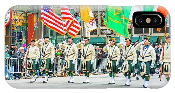 St. Patrick Day Parade In New York IPhone Case