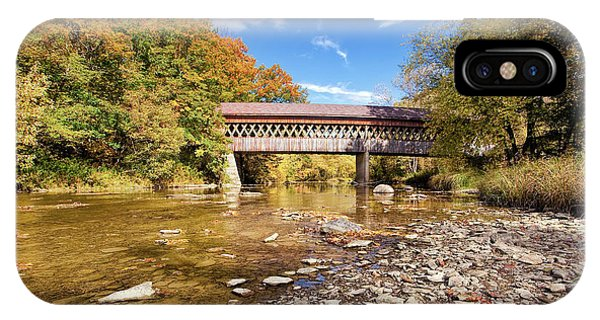 Kingsville iPhone Case - State Road Covered Bridge by Marcia Colelli