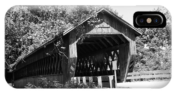 Kingsville iPhone Case - State Road Covered Bridge by Phyllis Taylor