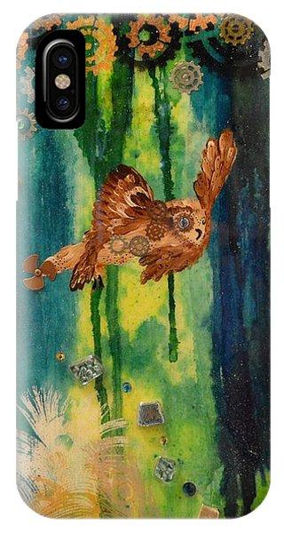 Steampunk Owl Blue Horizon IPhone Case