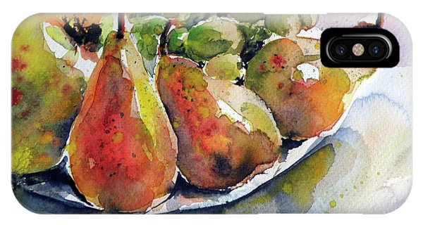 Pears iPhone Case - Still Life With Fruits by Kovacs Anna Brigitta