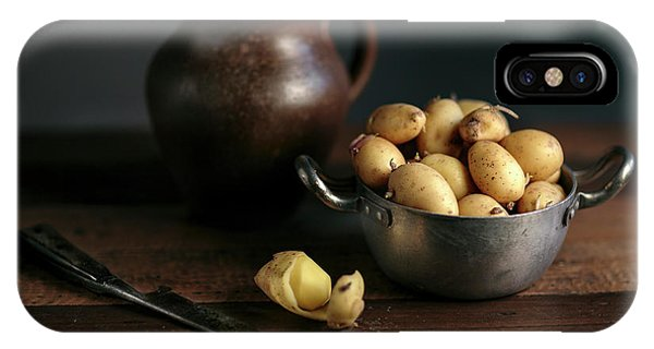 Panel iPhone Case - Still Life With Potatoes by Nailia Schwarz