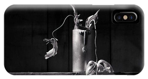 White Tulip iPhone Case - Still Life With Tulip by Nailia Schwarz