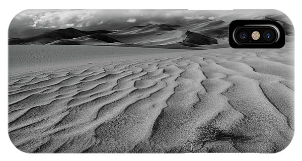 Storm Over Sand Dunes IPhone Case