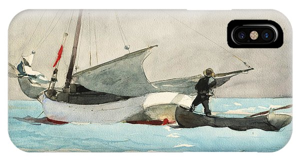 20th Century Man iPhone Case - Stowing Sail by Winslow Homer