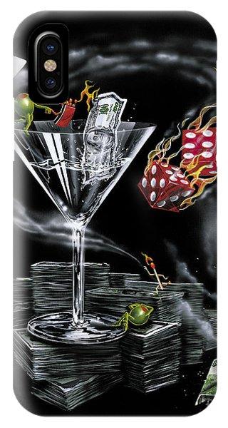 Martini iPhone Case - Strike It Rich by Michael Godard